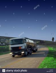 100 Diesel Or Gas Truck Petrol Diesel Or Gas Tanker Truck On Highway With Green Grass And