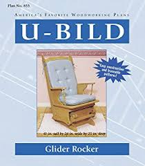 woodworking project paper plan to build glider chair indoor
