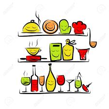 cuisine ustensiles cuisine dessin banque d images vecteurs et