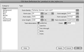 Text Decoration Underline More Space by 4 Introducing Cascading Style Sheets Dreamweaver Cs4 The