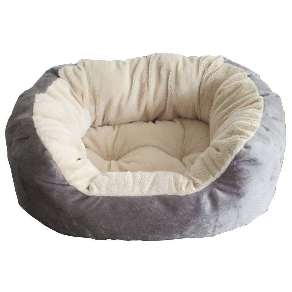 Ethical Pet Products 77234306345 Short Hair Plush Bed, Blue & Grey - Small