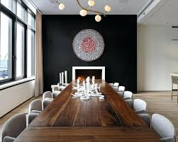 Stone Accent Wall Dining Room Glass Flower Vase White Pendant Lamp Blue
