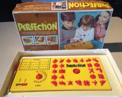 1973 Perfection Original Box Lakesides Vintage Game