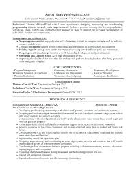 Example Social Work Resume Sample Worker Excellent Objective For Templates Regarding Template