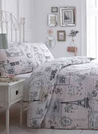 Sketchy Paris Bedding Set For My Yellow And Grey Bedroom