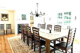 Farmhouse Round Dining Table Room Area Rug Under Farmho