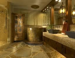 bathroom tile varnished wood wall mirror frame bronze wall