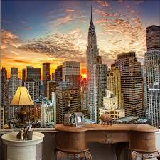 tapete 3d blau schöne new york city sonnen untergang landschaft kunst esszimmer nacht landschaft sisal tapete grenze tapete buy vintage tapete 3d