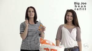Big Joe Lumin Bean Bag Chair by Refilling Your Big Joe Youtube