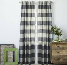 Green Striped Curtain Panels by Seeing Stripes