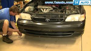 how to install replace headlight and bulb toyota corolla 98 02