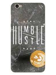 MADANYU Stay Humble Hustle Quote Designer Printed Hard Back Shell Case For Vivo Y55S