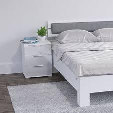 vicco nachtschrank kommode nachttisch schublade schlafzimmer weiß hochglanz