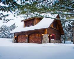 Large Mountain Style Detached Two Car Garage Photo In Minneapolis