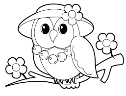 Owl Bird Baby Farm Animal Coloring Pages