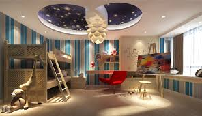 large bedroom cartoon design for children 3d house