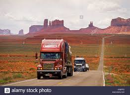 100 Valley Truck And Trailer On Monument Stock Photos On Monument