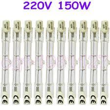 10 halogen light bulb 220 240v 150w 150 watt j type t3 78mm r7s
