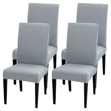 Details About 4pcs Dining Chair Covers Slipcovers Universal Removable Chair  Protective Covers
