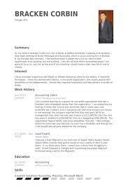 Accounting Intern Resume Samples