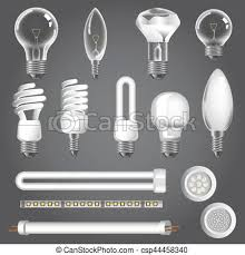 3d ls types of led bulbs vector icons l types vector eps