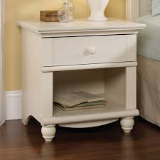 Sauder Harbor View Dresser And Mirror by Harbor View Collection White Nightstand