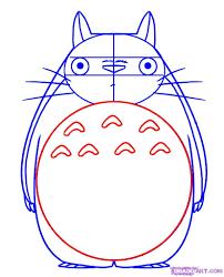 How To Draw Totoro From My Neighbor Totoro Step 4 Tortoro Totoro