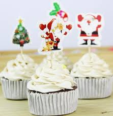 2018 Christmas Cupcake Topper Paper Santa Claus Xmas Tree Cake Festival Home Decoration Party Supplies From Cosmose 2312