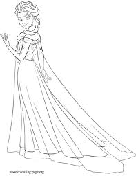 Elsa Coloring Pages To Print Frozen
