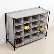 KSP Fabric 16 Shoe Cabinet Grey