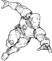 Marvel Avengers Coloring Pages Superhero Iron Man