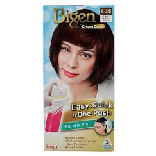 Bigen Cream Hair Color Easy Quick Change e Push Light Caramel