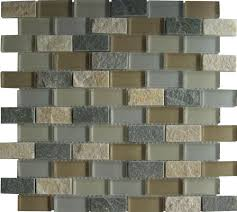 6 Inch Drain Tile Menards by Mohawk Krystal Slate 12 X 12 Glass And Stone Mosaic Tile At Menards