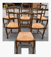 Vintage Country Rush Seat Walnut Dining Chairs Set Cool ...