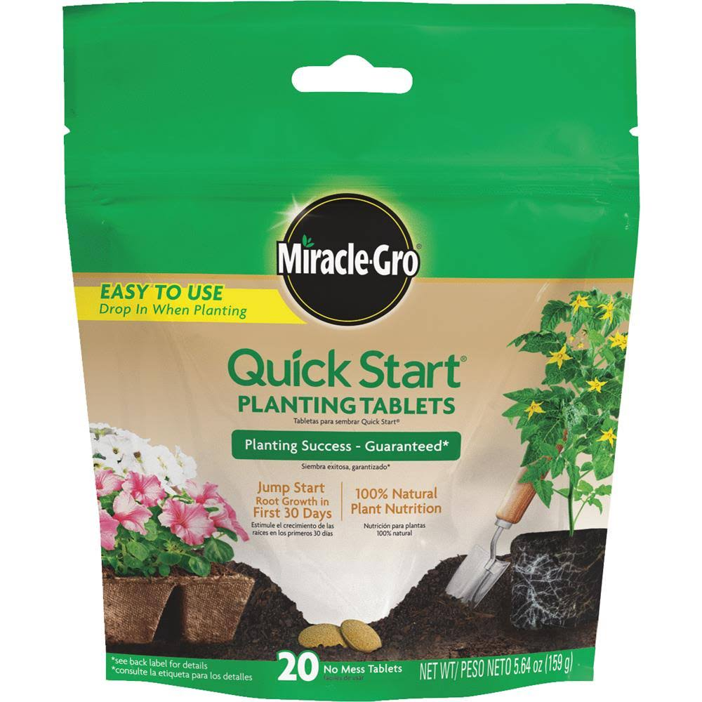 Miracle Gro Quick Start Planting Tablets
