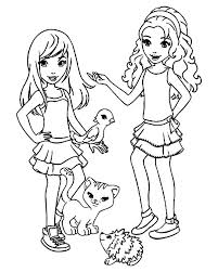 Lego Friends Coloring Pages Sthepanie And Emma