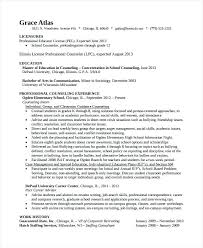 Resume For School Counselor High Guidance Sample Position
