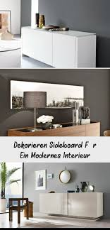 deko ideen sideboard wohnzimmer