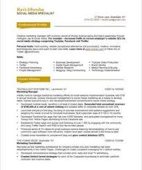 Social Media Specialist Page1 Resume Examples Tips Design Skills
