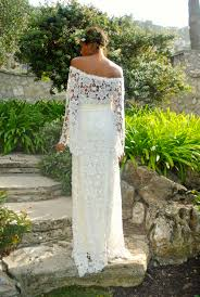 off shoulder boho maxi lace dress bohemian chic dreamers and