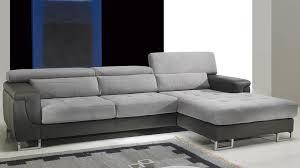 canapé d angle droit cuir microfibre gris pas cher canapé angle