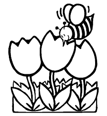Full Size Of Naturespring Coloring Pages Flowers Spring Bee And Large
