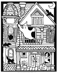 Scary Halloween Coloring Sheets Printable by Haunted House Coloring Page Scary Haunted House Coloring Page Free