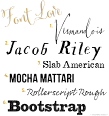 Rustic Wedding Invitation Fonts Mospens Studio