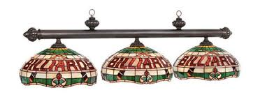 stained glass pool table light island and billiards