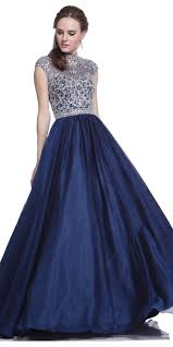 navy turtleneck embellished ball gown quinceanera dresses