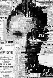 Black And White Newsprint Collage