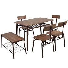 Amazon.com - Dporticus 6-Piece Kitchen & Dining Room Sets -1 Table ... 4 Chair Kitchen Table Set Ding Room Cheap And Ikayaa Us Stock 5pcs Metal Dning Tables Sets Buy Amazoncom Colibrox5 Piece Glass And Chairs Caprice Walkers Fniture 5 Julia At Gardnerwhite Pc Setding Wood Brown Ikayaa Modern 5pcs Frame Padded Counter Height Ding Set Table Chairs Right On Time Design 4family Elegant Tall For Sensational