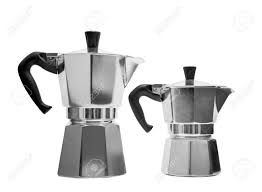 Italian Coffee Maker Stock Photo