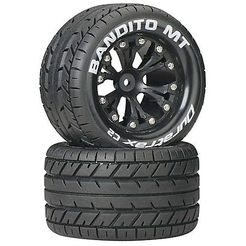 "Duratrax DTXC3502 Bandito MT Mounted Tire Wheels - 2.8"", 2WD, Rear, 2ct"